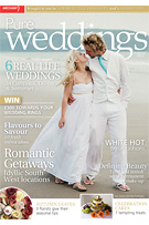 Pure Weddings Magazine cover and feature