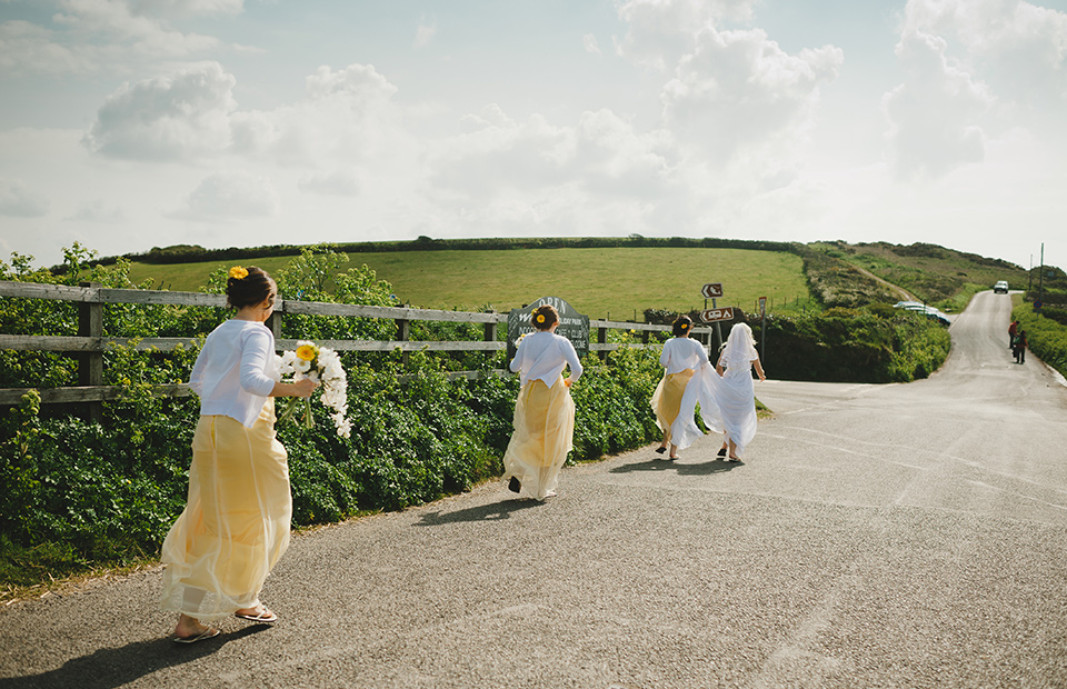 Devon beach wedding photo