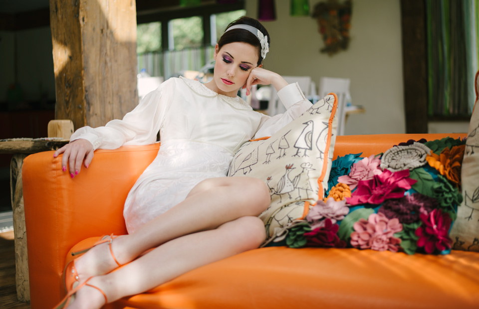 Wed Magazine 60s bridal editorial photography