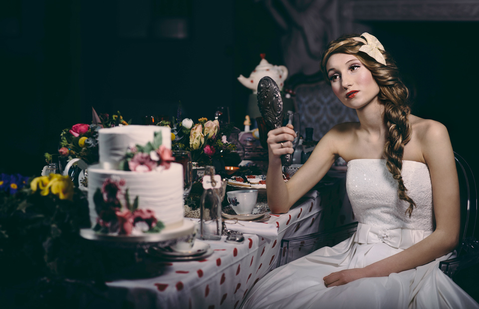 Alice in Wonderland photoshoot for Wed Magazine Devon