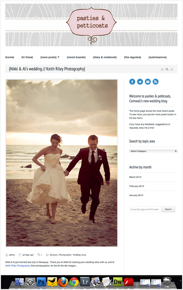 Pasties and Petticoats Cornwall wedding blog feature