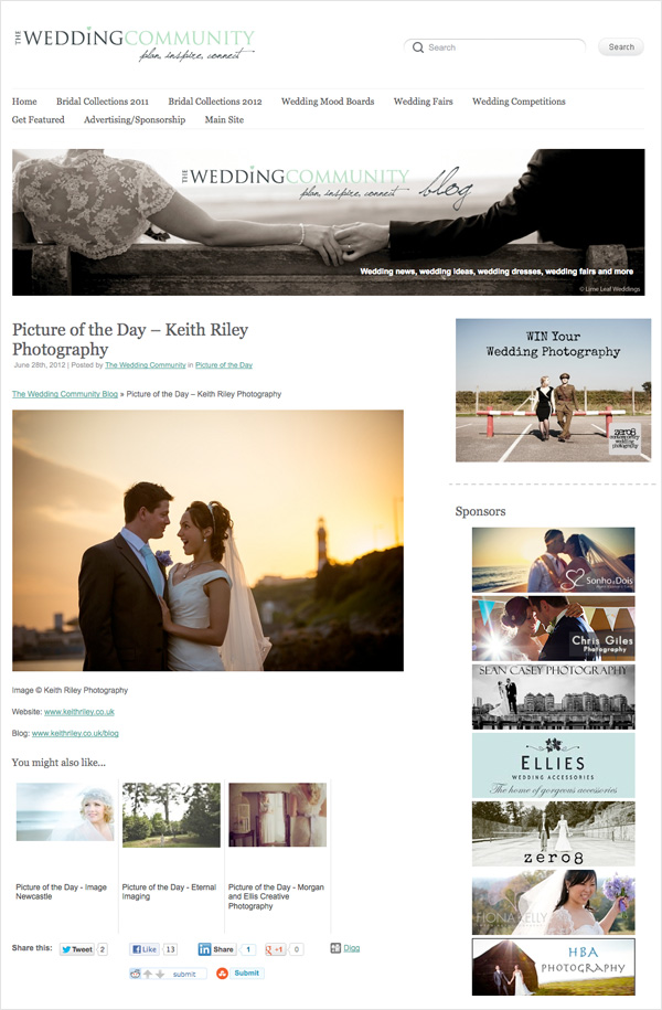 The Wedding Community Blog Picture of The Day