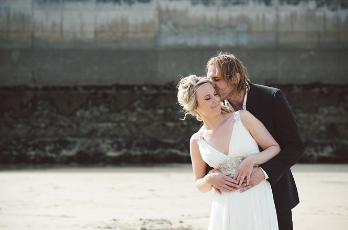 Newquay harbour boho beach wedding