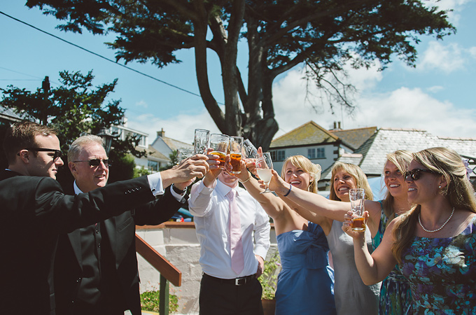 Claire Ryan's wedding Newquay