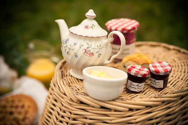 picnic and vintage china