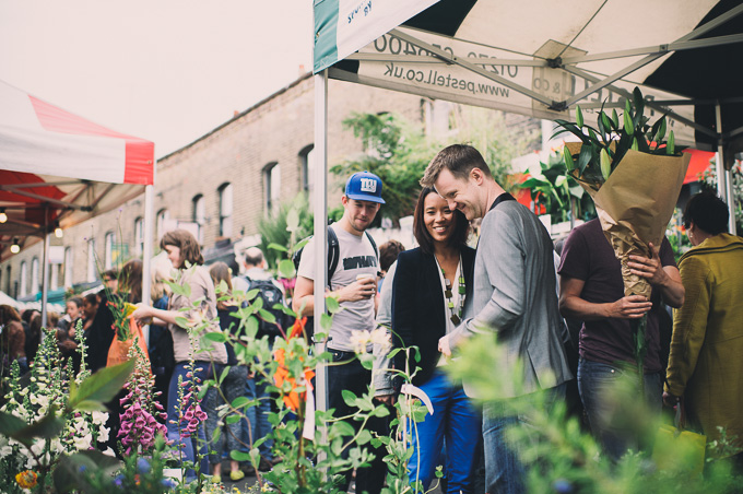 Engagement photography at London Columbia Road Flower Market (16)