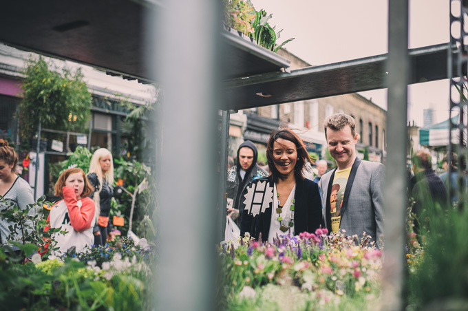 Engagement photography at London Columbia Road Flower Market (18)