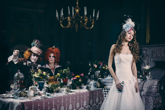 Wed Magazine Bridal Fashion Editorial - Alice in Wonderland