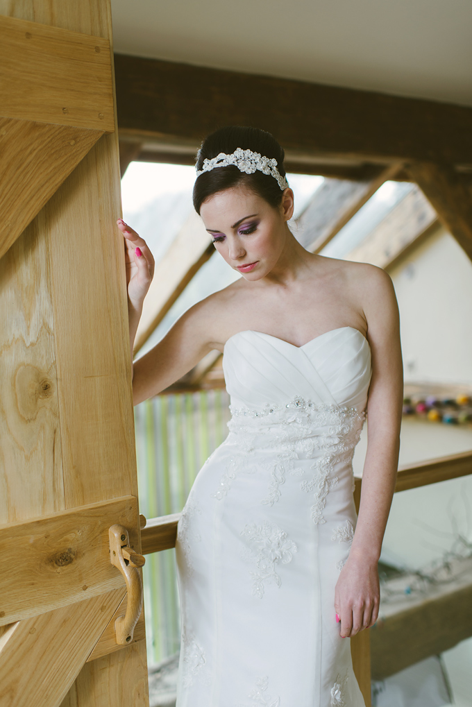 Bridal fashion editorial for Wed Magazine Cornwall