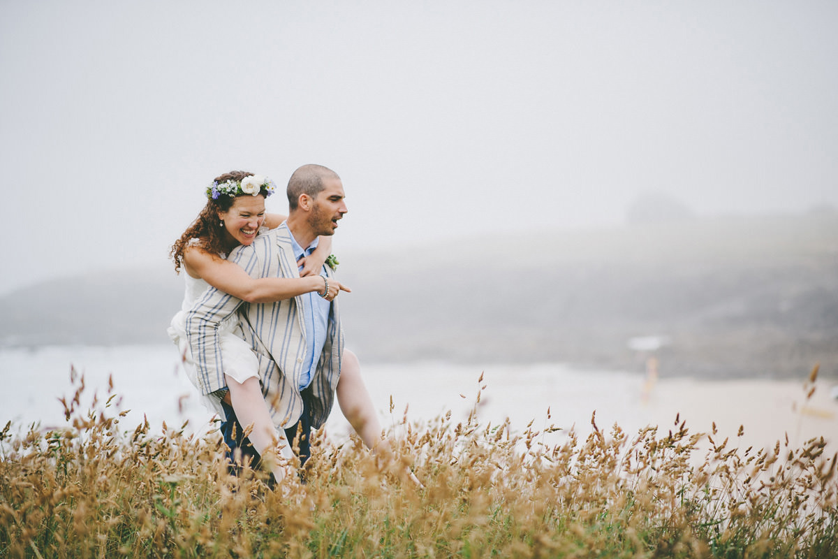 Wedding at Treyarnon Bay, Cornwall