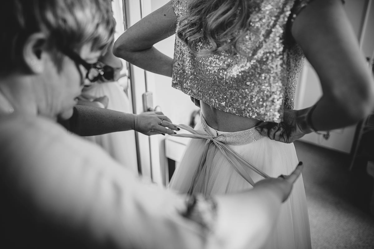 Bride getting ready at The Headland Hotel Newquay