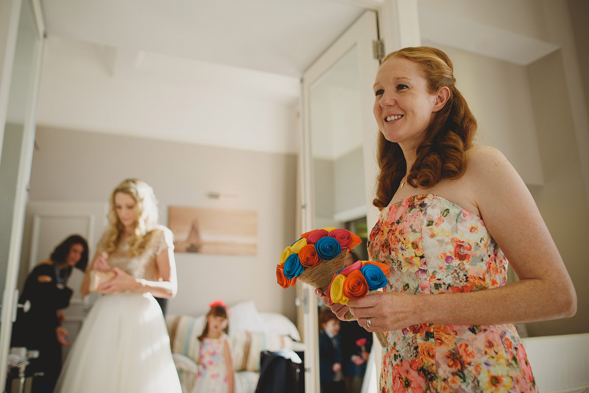 Bridesmaid Headland Hotel wedding photo