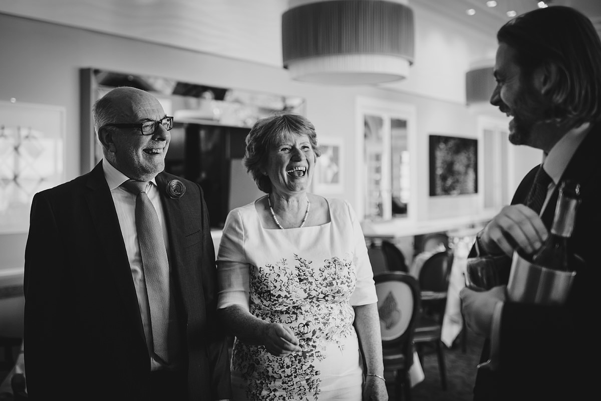 Headland Hotel wedding reception