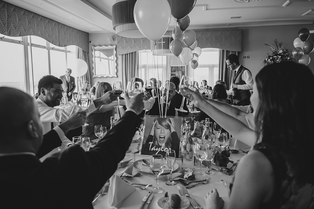 Guests at a Headland Hotel wedding