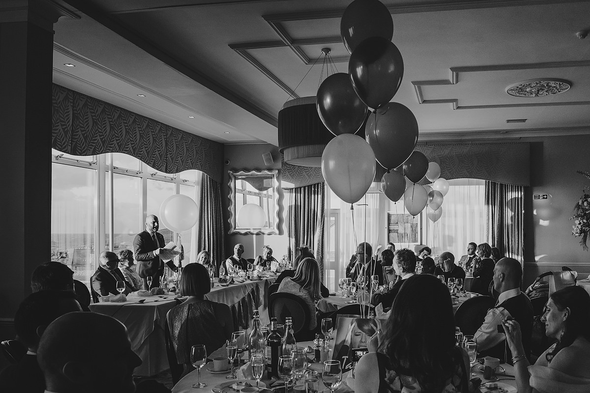 Wedding speeches at The Headland Hotel