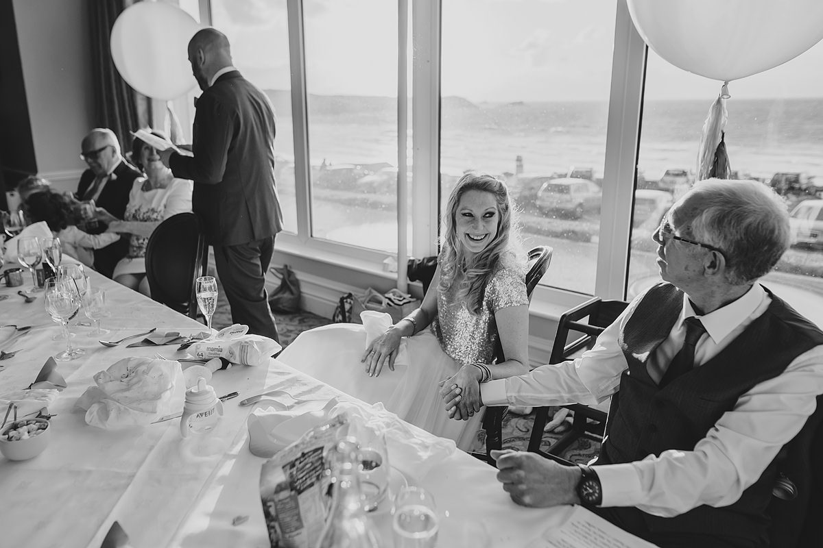 Wedding speeches at a Newquay wedding