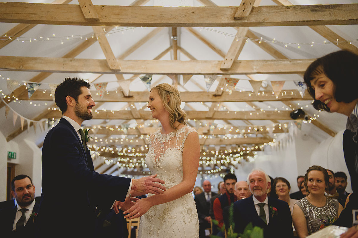 The Green Cornwall wedding ceremony