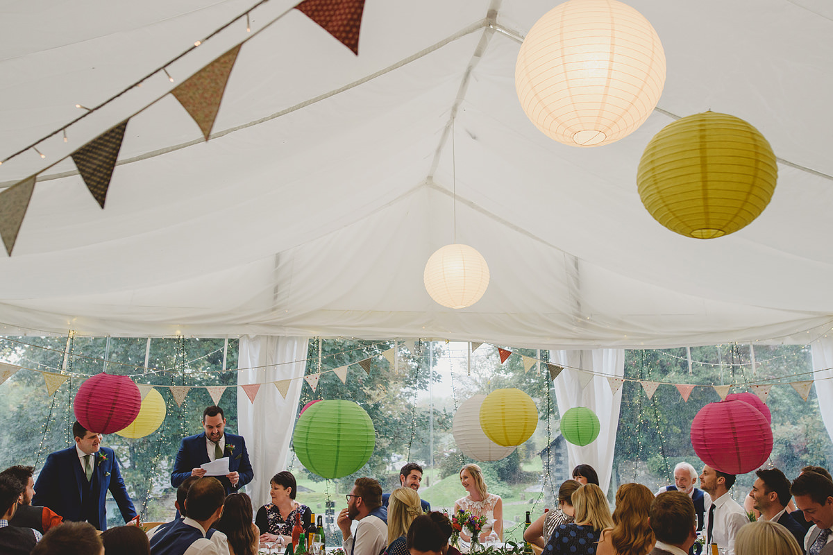 The Green Cornwall wedding marquee