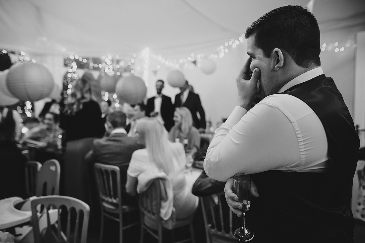 Guest wedding speech reaction