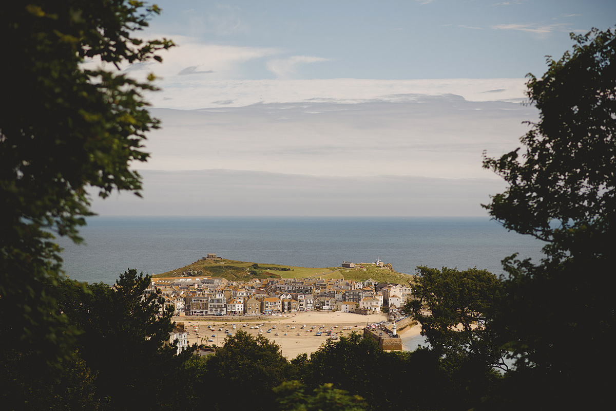 View of St Ives from Tregenna Castle