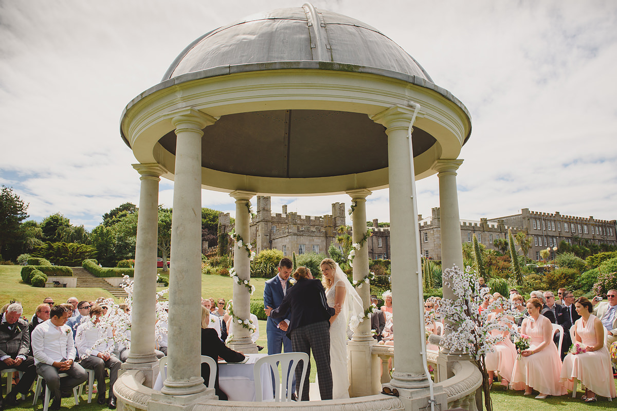 Outdoor wedding at Tregenna Castle