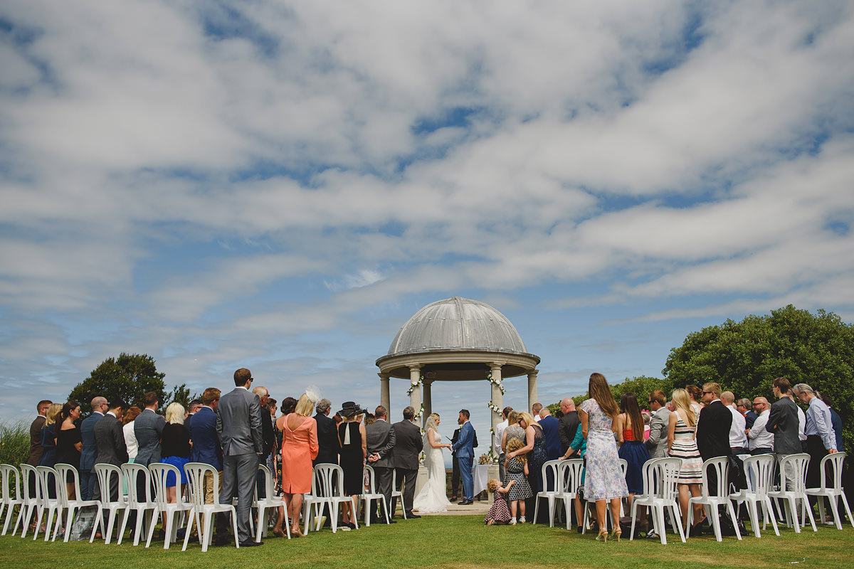 Tregenna Castle outdoor wedding ceremony