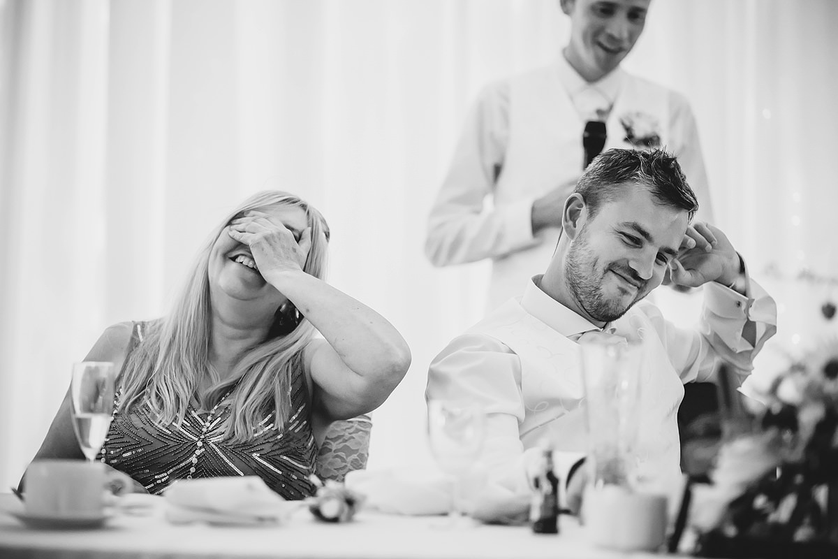 Groom speech reaction