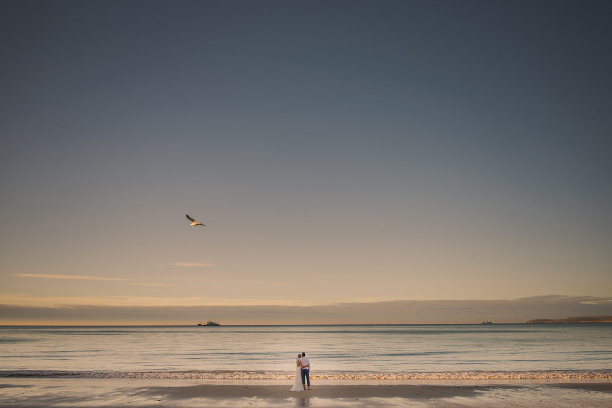 St Ives sunset wedding photos