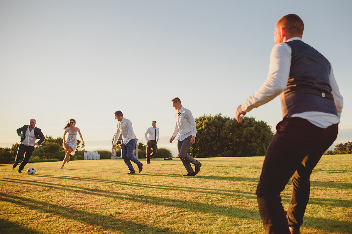 Football wedding games at Tregenna