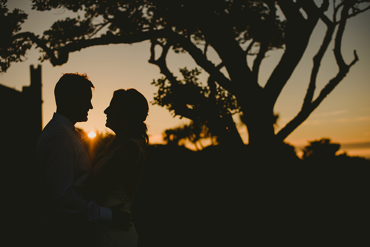 Tregenna Castle weddings sunset