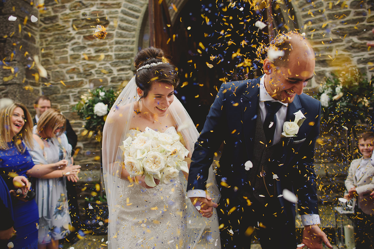Confetti at an Alverton Hotel wedding