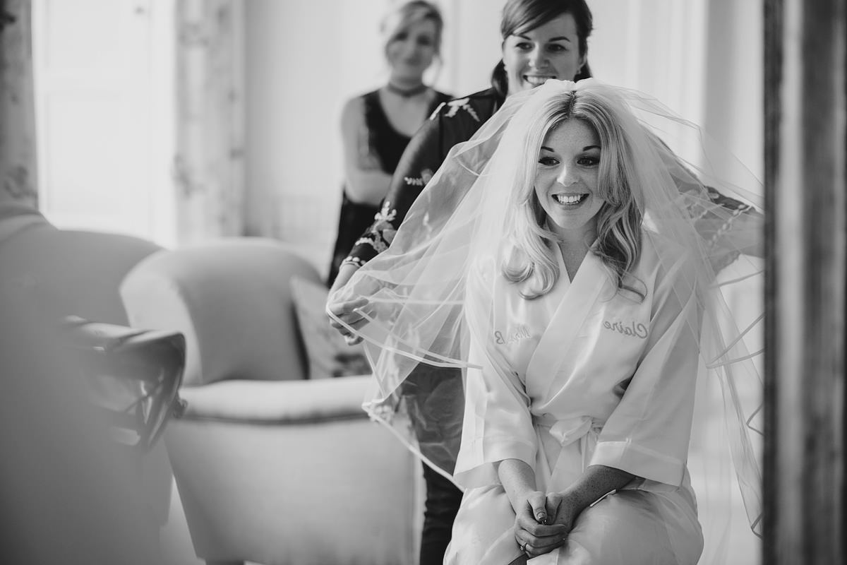 Bridal preparations at Pynes House in Exeter