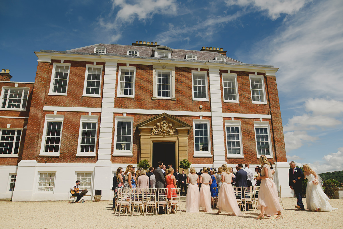 Pynes House outdoor wedding ceremony