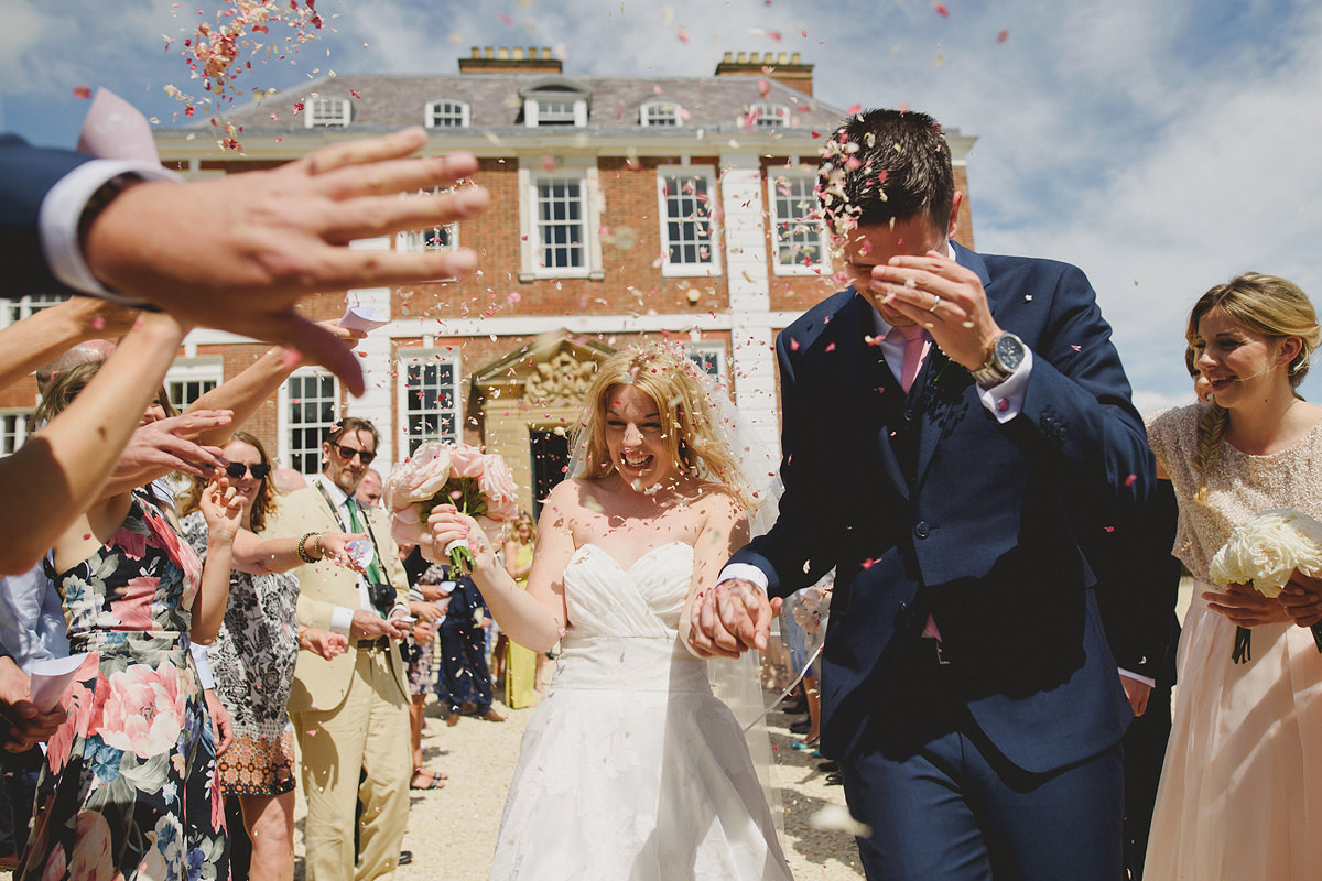 Confetti at a Pynes House wedding