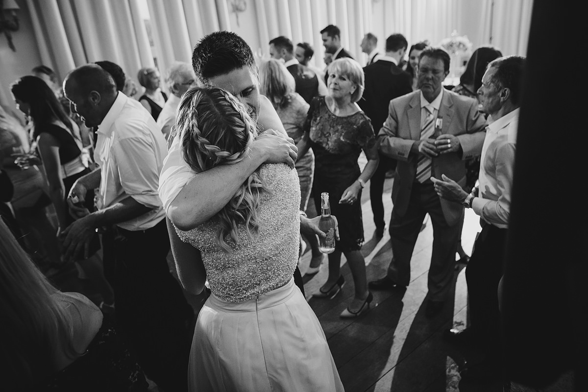 Dance floor action at a Devon wedding