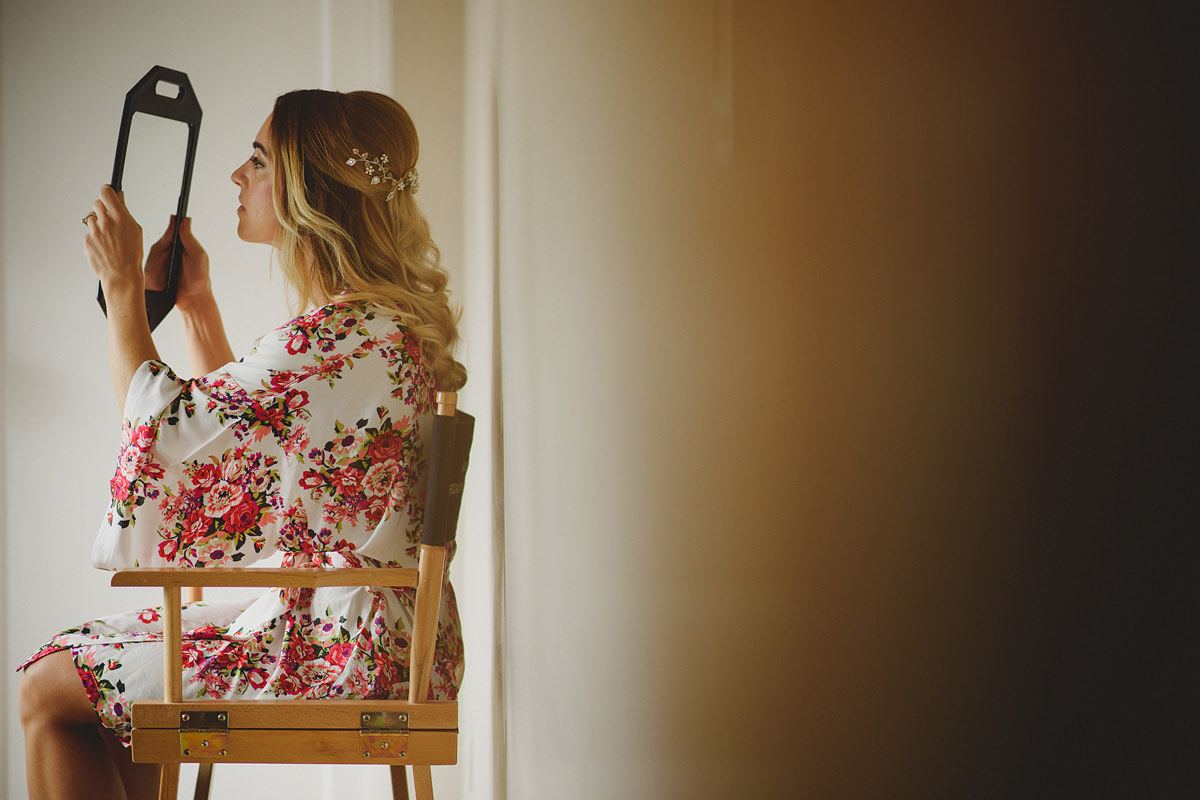 Bridal preparations at Trevenna Barns in Cornwall