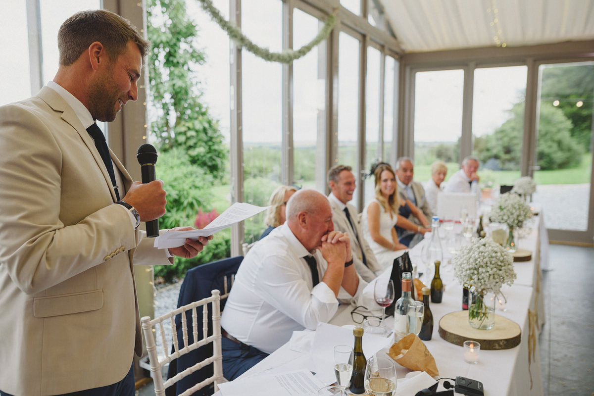Speeches at a Trevenna wedding
